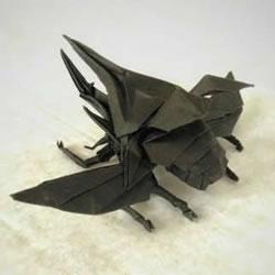 折纸海神大兜虫的方法 海神大兜的折法图解