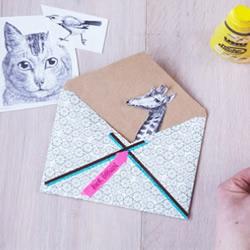 可爱动物信封小制作 为最好的朋友送去一份惊喜