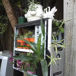 旧电脑机箱DIY花架 电脑主机制作花架的方法