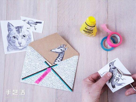 纸艺大全 折纸大全 信封折法  如果不能从书籍上找到满意的动物,也