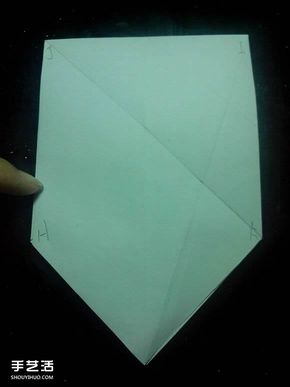 手工折纸漂亮盒子图解 带纸鹤包装盒子折法(2)