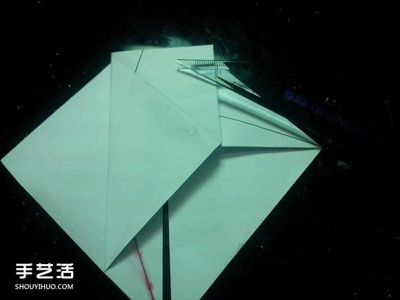 手工折纸漂亮盒子图解 带纸鹤包装盒子折法(4)