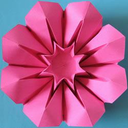 三种八瓣花折纸方法图解 八瓣花的折法步骤图