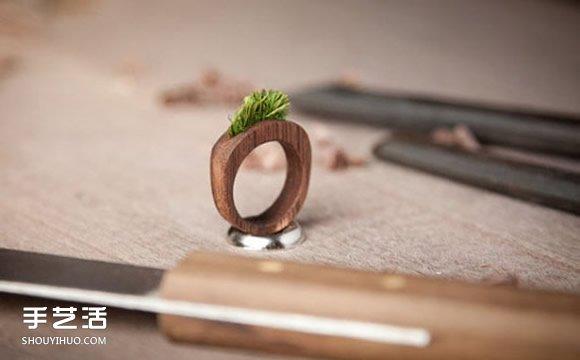 纯手工打磨而成的木头首饰 质朴而别具一格 -  www.shouyihuo.com