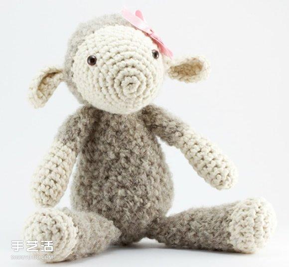 钩针编织而成的可爱动物玩偶 漂亮而又治愈人心