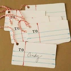 礼物包装标签制作方法 简易礼物标签DIY教程