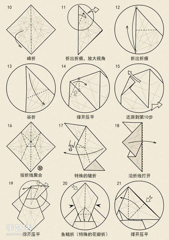 站立兔子的折叠方法图解