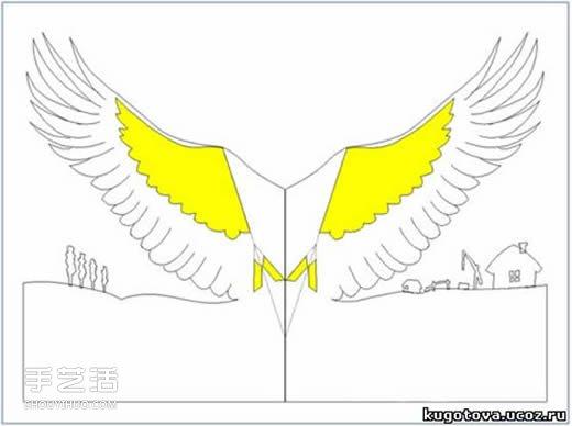 教程立体的制作方法自制纸鹤贺卡整机图纸2米清5清洗机cad贺卡纸鹤图片