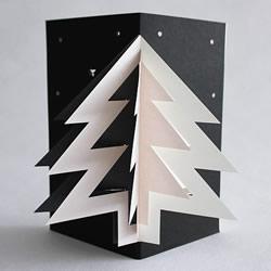 立体圣诞树贺卡手工制作 DIY圣诞树贺卡图片