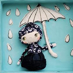 甜美可爱的手工布艺娃娃 既可把玩也是装饰品