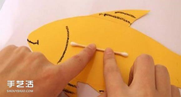 简单小鱼粘贴画做法 幼儿卡纸小鱼手工制作
