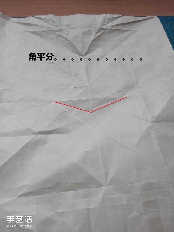 折纸兔子头详细步骤图 复杂立体兔头的折法(3)