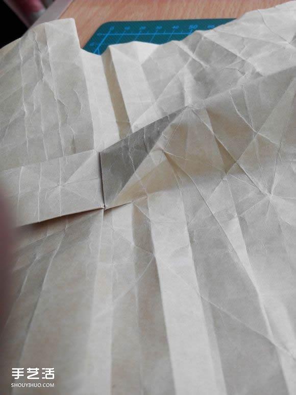 折纸兔子头详细步骤图 复杂立体兔头的折法(5)