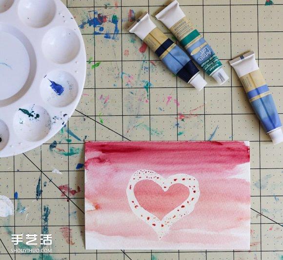 手绘水彩明信片教程图解 水彩明信片的制作方法