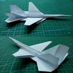 怎么用纸折战斗机图解 A4纸折战斗机的折法
