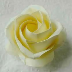 新川崎玫瑰折法图解 手工折纸新川崎玫瑰步骤