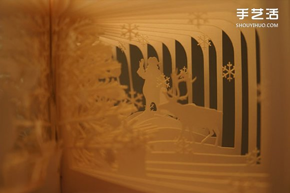 360度立體鏤空書作品 精美鏤空書本圖片欣賞