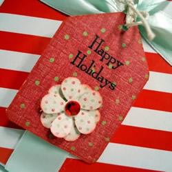 精美礼品包装标签图片 手工礼物盒标签DIY