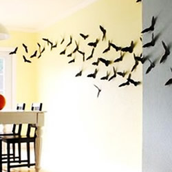 万圣节蝙蝠手工制作 儿童万圣节蝙蝠墙装饰DIY