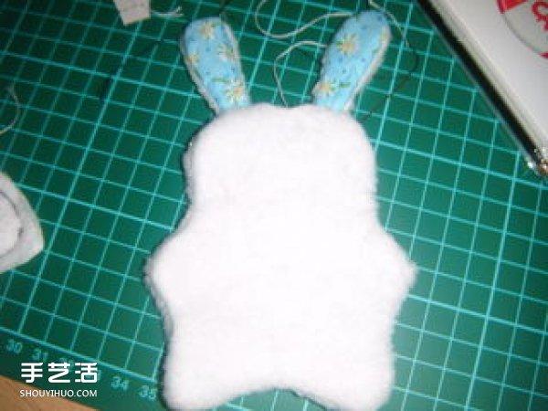 毛毡布兔子手工制作 DIY毛绒兔子布偶图解