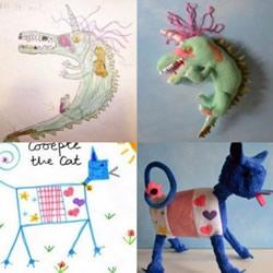创意手工涂鸦玩偶图片 让孩子的想象成为真实