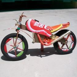 易拉罐制作摩托车步骤 摩托车模型制作技法