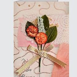 干花制作贺卡封面图片 简单美丽的贺卡干花封面
