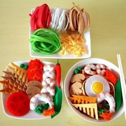 不织布美食模型图片 手工布艺水果食物作品
