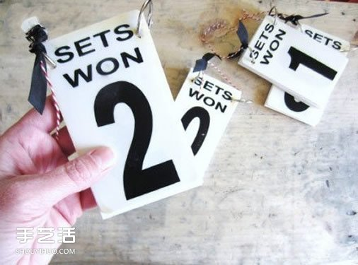 创意婚礼桌牌设计图片 手工婚庆桌签卡欣赏