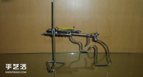 火柴枪的最简单做法 儿童玩具火柴枪手工制作 -  www.shouyihuo.com