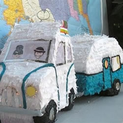 幼儿露营车手工制作 简单瓦楞纸露营车的做法