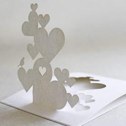情人节立体贺卡制作图片 立体情人节贺卡模板