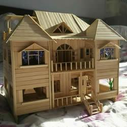 一次性筷子手工制作逼真别墅模型 步骤超全!