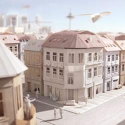 逼真的城市纸模型作品 手工纸模型图片欣赏
