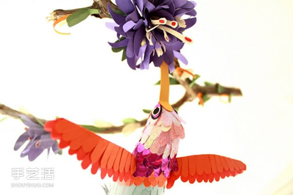 逼真的手工紙鳥圖片 讓你置身鳥語花香的世界
