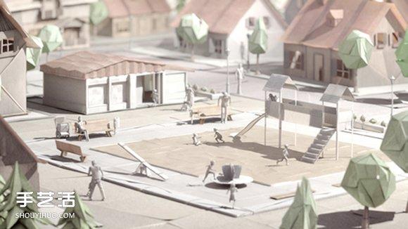 逼真的城市纸模型作品 手工纸模型图片欣赏 -  www.shouyihuo.com