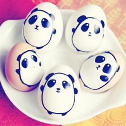 鸡蛋画画可爱图片欣赏 简单可爱鸡蛋手绘表情