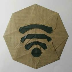 手机WIFI信号强度的图标手工折纸图解教程