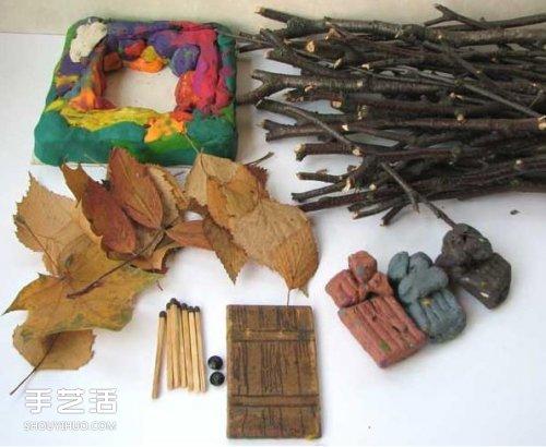 儿童小木屋制作教程 手工树枝房子的做法 - www.shouyihuo.com