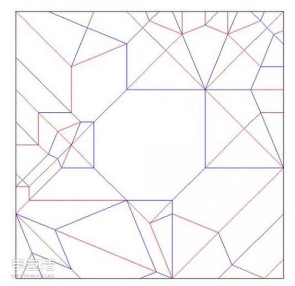 折纸大全马     步骤
