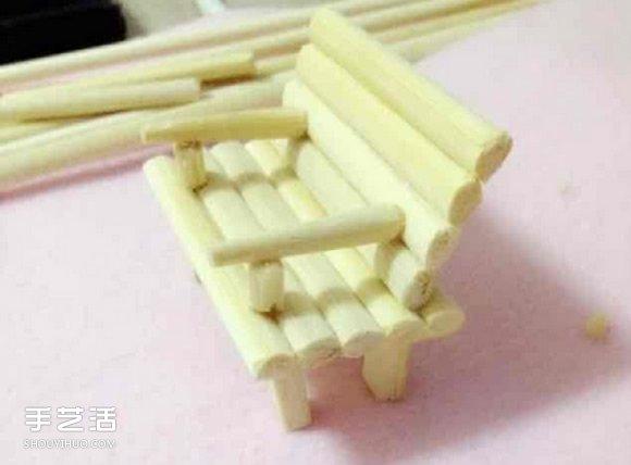 一次性筷子手工制作带扶手椅子的方法图解 -  www.shouyihuo.com