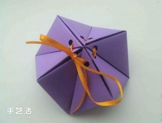 几何小礼盒的折法图解