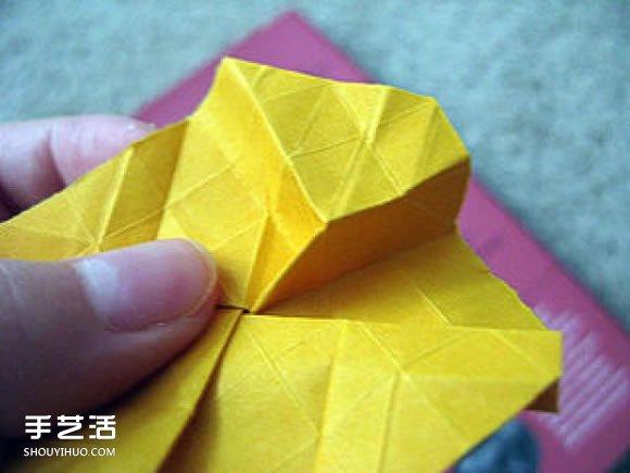 复杂玫瑰花的折法图解 玫瑰花折叠方法步骤 -  www.shouyihuo.com