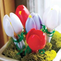 一次性勺子废物利用小制作 塑料勺子创意DIY图片