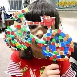 幼儿园泡沫板手工制作 泡沫板马赛克DIY图片
