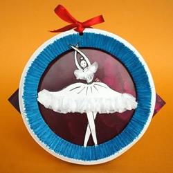 纸盘手工制作芭蕾舞者 创意纸盘手工DIY图片