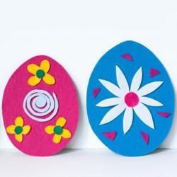不织布复活节彩蛋制作方法 孩子也能来帮忙!