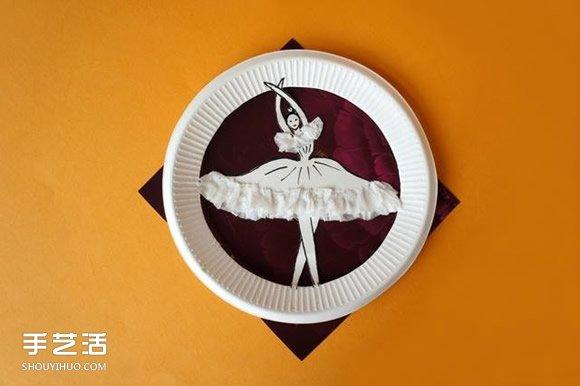 纸盘手工制作芭蕾舞者 创意纸盘手工DIY图片 -  www.shouyihuo.com