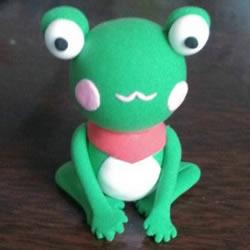 超轻粘土粘土小青蛙 粘土手工制作小青蛙教程