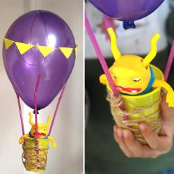 儿童热气球制作方法 气球手工制作热气球图解